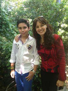 La actriz Silvia Marsó estuvo charlando con él muy interesada por su blog y sus intervenciones en los medios, también estaba invitada a los premios de Sial Pigmalion.