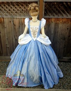 Custom made to order. Due to high demand, costume orders will be made and shipped an average of 90 days from from your order date. If you need it in a shorter time frame, please contact us first for rush fees and availability.  An original interpretation/inspired piece by Bbeauty Designs. In all the fairytales it just seems like Cinderellas dress is re-created very plain. We decided to break the mold offering a Cinderella with sparkle and pizazz.  This beautiful Cinderella dress is a fan...