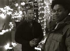 David & Echo #Arrow bts Posted by Paul blackthorne