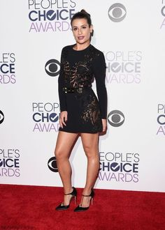 Lea Michele wearing Elie Saab Fall 2015 Embroidered Cady Cutout Dress, Brian Atwood Astral Pumps, Elie Saab Gold Plate Belt and Anita Ko Diamond Huggies Earrings Brian Atwood, Lea Michele, Kate Hudson, Choice Awards, Pretty Little Liars, Celebrity Red Carpet, Celebrity Style, Glamour Fashion, Elie Saab Fall