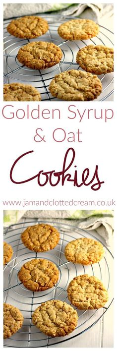 Golden Syrup and Oat Cookies biscuit recipe;canned biscuit recipes; Oat Biscuit Recipe, Oat Cookie Recipe, Biscuit Cookies, Cookie Recipes, Dessert Recipes, Biscuit Bar, Cookie Dough, Healthy Oat Cookies, Banana Oat Cookies