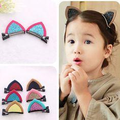 20Pcs Children Baby Hair Accessories Clip Girls Hairpins Barrettes Lovely Cute Ear Headwear Hairpin Hairclip Hairband Hair Clip