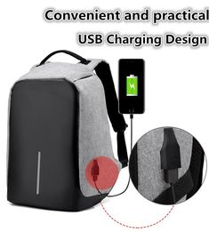 Features: NewAnti-Theft Backpackwith USB charging port Comes in grey, black,blue andpurple Anti-theft design, cut-proof and night safety Its zipper is fully Anti-Theft Waterproof Backpack With USB * HOT PRODUCT * Super Cool New #Backpackin4Colours Big Savings While Stocks Last! Features: New#AntiTheftBackpackwith #USBchargingport Comes in black,blue,grey & purple.  #TheftproofbackpackwithUSBcharger.  #Bigstartrading