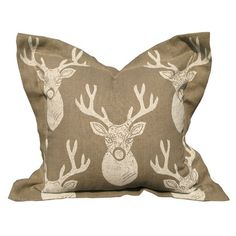 I pinned this White Deer Pillow in Natural from the Into the Woods event at Joss and Main!