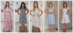Confira alguns dos nossos vestidos favoritos. Cinco modelos para você se inspirar e quer saber da melhor parte? Estão todos na nossa loja online.