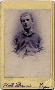 "Unidentified photographer/creator   Portrait of a male psychiatric patient, ""Hall[ucinatory?] Paranoia - Jugner[?]""   1875-1885 (ca)"