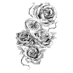 28 Best Realistic Rose Tattoo With Thorn Images Floral Tattoos