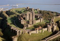 Dover Castle ~ founded in the 12th century is the largest castle in England. Altho' there was a fortification on this site for many years before the conquest, it was Henry II who created the great fortress and royal residence.