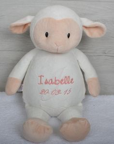 My First Lamb Personalised Teddy Personalised Teddy Bears, Lamb, Dolls, Animals, Personalized Teddy Bears, Animales, Animaux, Doll, Animal