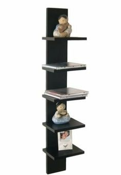 "Utility Column Spine Wall Shelves (Color may vary) by Danya B. $25.29. Ideal to decorate columns or narrow walls. Assembly required. Measures: 6x5.5x30"". Walnut Finish Five Tier Wall Shelving"
