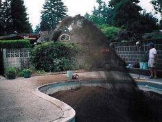 ways to fill in pool   swimming pool fill the owner decided to fill the backyard pool ...