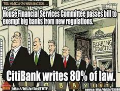 Truth be told...  Corporations now write their own laws that, of course, favor themselves.