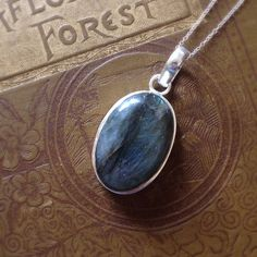 Labradorite Dark Moon Amulet. Magic. Journey. by belowtheoak, $32.00