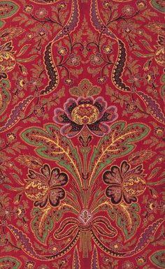 Printed cotton textile, c 1876 Scotland