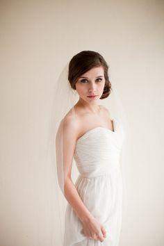 Wedding Veil, Fingertip Length Tulle Veil, Bridal Veil, Tulle Veil - Clara  MADE TO ORDER on Etsy, $60.00