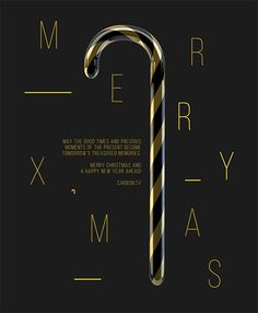 A GIF animated e-card for Carbon to send to their clients to wish them season greetings. The e-card has the minimalist and sophisticated look. The colours of the candy cane are picked out from Carbon's logo to represent Carbon.