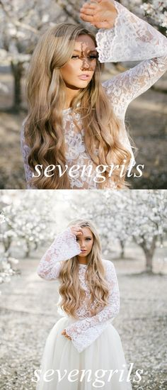 white prom skirt, lace homecoming dresses, two piece homecoming dresses, 2 piece homecoming dresses @veenrol