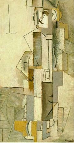 Harlequinesque personage, 1913 Pablo Picasso - Style - Analytical Cubism