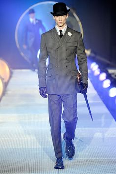 John Galliano | Fall 2010 Menswear Collection | Style.com..minus the bowler, gloves n umbrella..