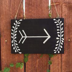 Arrow Chalkboard Sign/Wedding Sign/Photo Prop/Handpainted Sign/Wedding Sign/Chalkboard Sign/Wedding Chalkboard on Etsy, $18.00