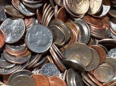 5 types of Coines: wheat pennies nickels before 1960 Dimes and Quarters before 1965 Half Dollars before 1971