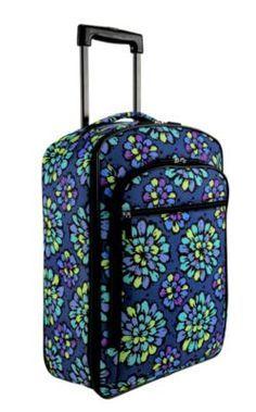 Vera Bradley Indigo Pop rolling suitcase.