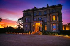 Hedsor House Fantastic outdoor lanterns look amazing at dusk