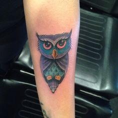 Tattoo by Chris Davis #owltattoo #cityofinkedgewood #owl