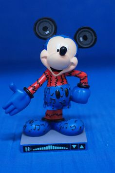 "Mickey Mouse Rockin' 6"" Resin Figurine 19504 Disney Inspearations 75th Retired #WestlandGiftware #Figurines"