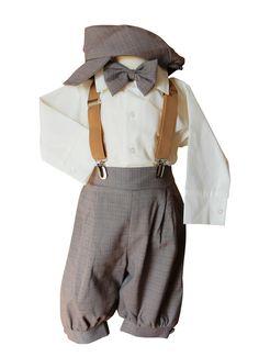 Babyanzug Luan grau weiß Set Hemdbody Taufanzug Jungen Baby Taufe Hochzeit