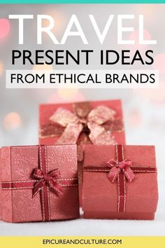 Looking for sustainable holiday gifts for the traveler in your life? These travel present ideas are from ethical brands you can feel good supporting! // #HolidayGifts #ChristmasGifts #Presents #EthicalBrands Travel Presents, Travel Gifts, Responsible Travel, Sustainable Tourism, Restaurant Guide, The Ultimate Gift, Ethical Brands, Culture Travel, Solo Travel
