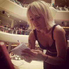 Alizée Jacotey @ Radio SCOOP in Lyon 2014-05-14 #alizee #blonde