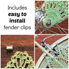 Crochet Bicycle Skirt Guard Dress Guard Bicycle by KnitsForLife