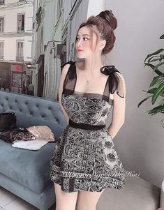 Cute Girl Outfits, Girly Outfits, Cute Casual Outfits, Pretty Outfits, Skirt Fashion, Fashion Dresses, Sexy Dresses, Short Dresses, Modesty Fashion
