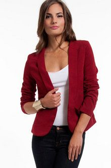 Staple Blazer in Cherry