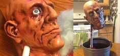 DIY Decapitated Head Drinking Fountain: The Perfect Way to Serve Blood-Red Punch on Halloween Red Punch, Halloween Animatronics, Pvc Tube, Drinking Fountain, Halloween Diy, Blood, Snack Recipes, Costume Parties, Homemade