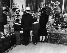 Christmas shopping in Little Tokyo, Downtown Los Angeles, 1941. (Los Angeles Herald Examiner Collection, Order # 00068526).