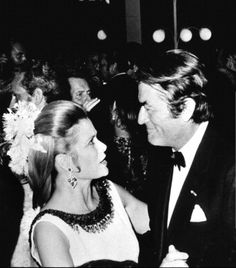 Princess Grace and Gregory Peck at the 1970 Red Cross Ball.
