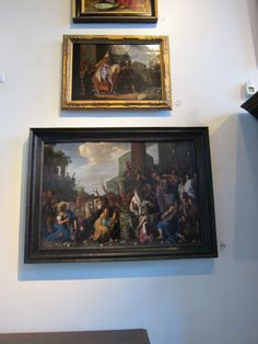 Two paintings by Pieter Lastman in Rembrandt's hall