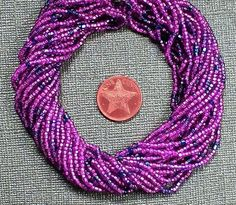 Vintage Seed Beads 9 Strands of 2mm Red Seed Beads 1 Hank