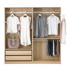 New Bedroom Wardrobe Ikea Ideas Ikea Pax Wardrobe, Ikea Closet, Bedroom Wardrobe, Built In Wardrobe, Ikea Bedroom, Wardrobe Ideas, Shabby Chic Bedrooms, Trendy Bedroom, Outfits