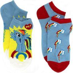 My Little Pony Rainbow Dash Ankle Socks - http://www.thlog.com/little-pony-rainbow-dash-ankle-socks/