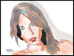 Untitled  by J. F. Jennings  2014 girl woman young digital art illustration