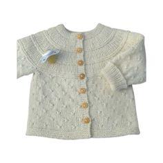 Opskrift babytrøje med knudemønster (PDF)