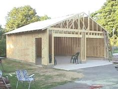 How to build your own 24 X 24 Garage and save money. Step by Step Build Instructions |