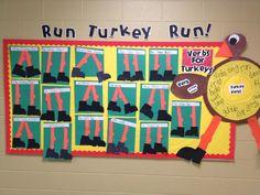 Run Turkey Run!  First Grade Verbs!