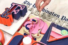 snask for the washington post / fantastic handmade letter from the swedish studio. via #itsnicethat #typography #handmade