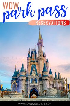 """All the details about the new Disney World Park Pass Reservations including the direct """"secret entrance"""" link to get yours scheduled! #disney #familytravel #disneyreservations #disneyparkpass Disney World Guide, Disney World Secrets, Disney World Parks, Disney World Tips And Tricks, Disney Tips, Disney Worlds, Disney Magic, Disney Vacation Club, Disney Vacation Planning"""