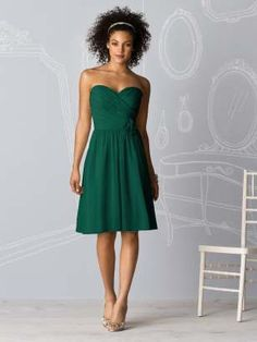 After Six Bridesmaids Style 6609    in hunter green