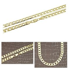 NEW HIP HOP CUBAN CHAIN NECKLACE / 14K GOLD PLATED CUBAN NECKLACE CHAIN